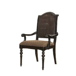 Tommy Bahama Home Kingstown Isla Verde Fabric Arm Dining Chair in Tamarind