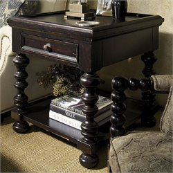 Tommy Bahama Home Kingstown Explorer End Table in Tamarind
