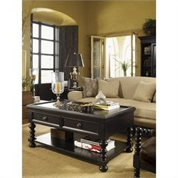 Tommy Bahama Home Kingstown Explorer Cocktail Table in Tamarind