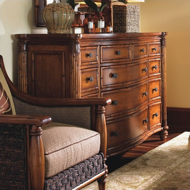 Island Estate Barbados Triple Dresser in Plantation