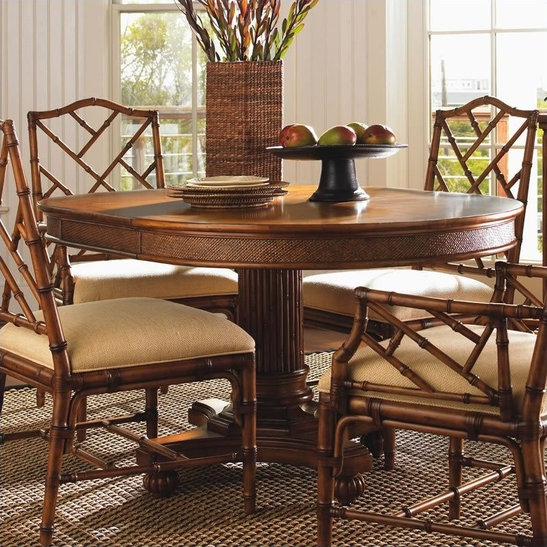 Tommy Bahama Home Island Estate Cayman Pedestal Casual Dining Table