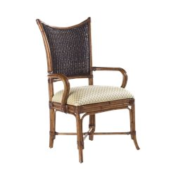 Tommy Bahama Home Island Estate Mangrove Fabric Arm Dining Chair in Plantation