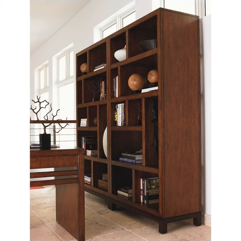 Tommy Bahama Home Ocean Club 10 Cubby Tradewinds Bookcase