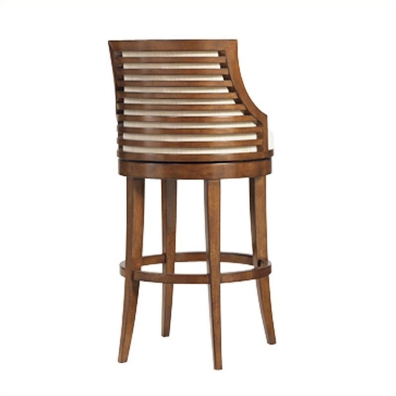 Tommy Bahama Home Ocean Club 30 Quot Swivel Bar Stool In Taupe