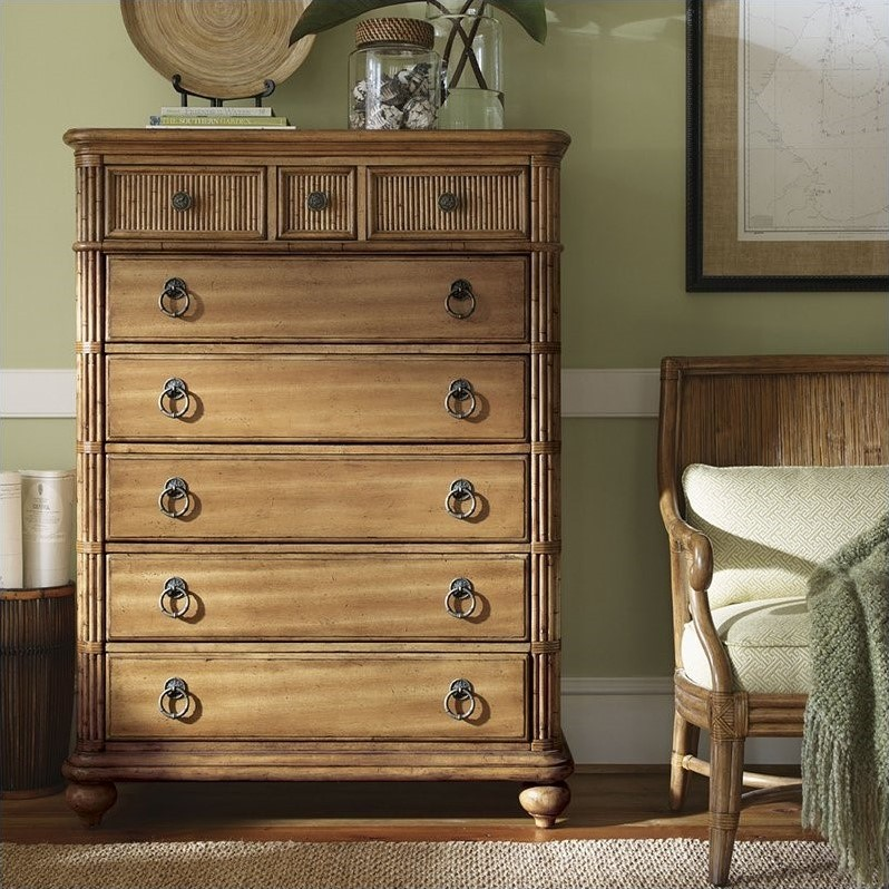 Beach House Gulf Shores Chest in Golden Umber