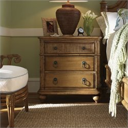 Tommy Bahama Home Beach House Delray Nightstand in Golden Umber
