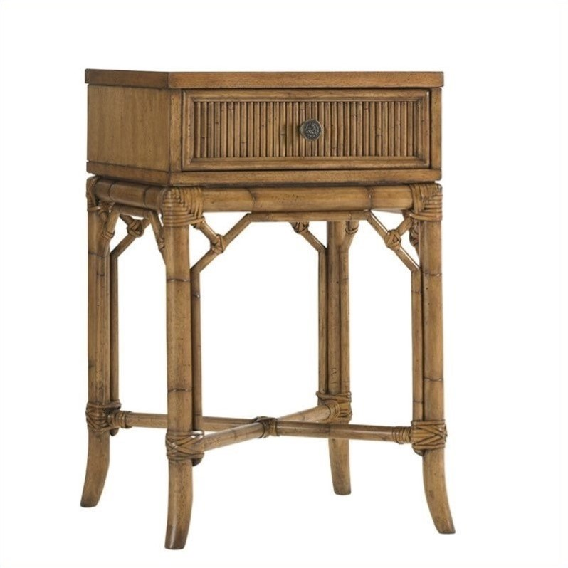 Tommy Bahama Home Beach House Captiva Nightstand in Golden Umber