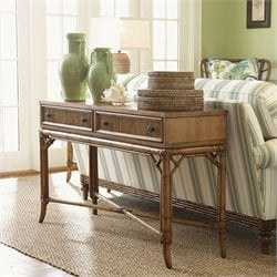 Tommy Bahama Home Beach House Palm Coast Sofa Table in Golden Umber