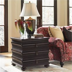 Tommy Bahama Home Royal Kahala Black Sands Lamp Table
