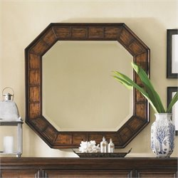 Tommy Bahama Home Landara Cape Coral Mirror in Rich Tobacco