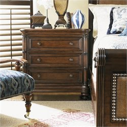 Tommy Bahama Home Landara Islandia Nightstand in Rich Tobacco