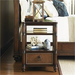 Tommy Bahama Home Landara Seacliffe Night Table in Rich Tobacco