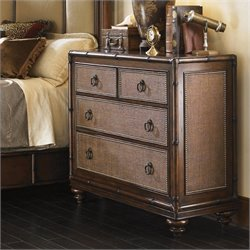 Tommy Bahama Home Landara Serafina Bachelor Chest in Rich Tobacco