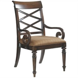 Tommy Bahama Home Landara Fabric Arm Chair in Brown