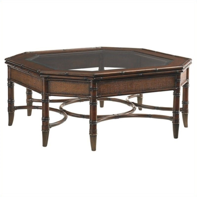 Tommy Bahama Home Landara Marianas Cocktail Table In Rich Tobacco 545 947