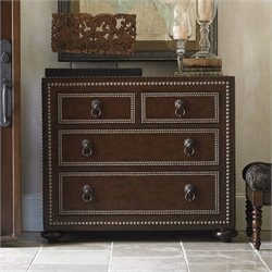 Tommy Bahama Home Landara Bluewater Hall Accent Chest in Rich Tobacco