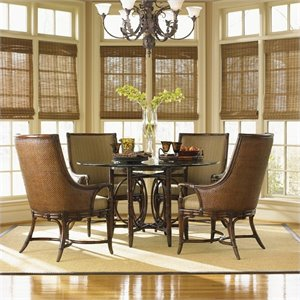 Tommy Bahama Home Landara Coral Sea Dining Table in Rich Tobacco