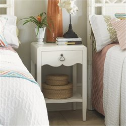 Tommy Bahama Home Ivory Key Water Street Bedside Table in White