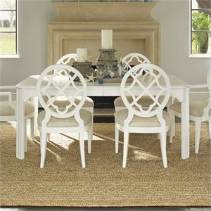 Tommy Bahama Home Ivory Key Castel Harbour Dining Table in White