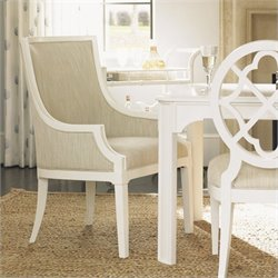 Tommy Bahama Home Ivory Key Gibbs Hill Host Dining Chair in White