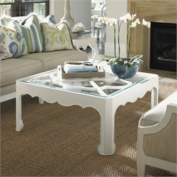 Tommy Bahama Home Ivory Key Cassava Cocktail Table in White