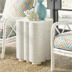 Tommy Bahama Home Ivory Key Spar Point Chair Side Table in White