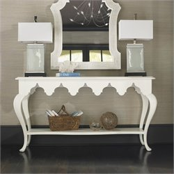 Tommy Bahama Home Ivory Key Gunners Reef Console Table in White
