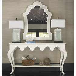 Tommy Bahama Home Ivory Key Mirror and Console Table Set in White
