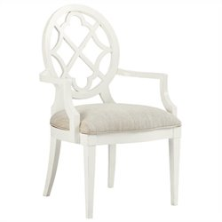 Tommy Bahama Home Mill Creek Fabric Arm Chair in White