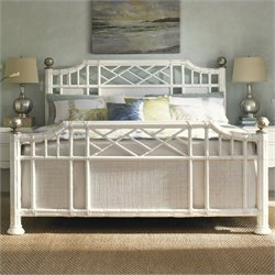 Tommy Bahama Home Ivory Key Pritchards Bay Panel Bed in White - Queen