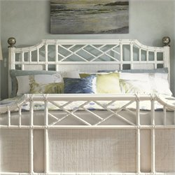 Tommy Bahama Home Ivory Key Pritchards Bay Spindle Headboard in White - Twin