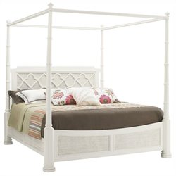 Tommy Bahama Home Ivory Key Southampton Panel Bed in White - Queen