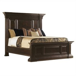 Tommy Bahama Island Traditions Sutton Place Pediment Bed - Queen