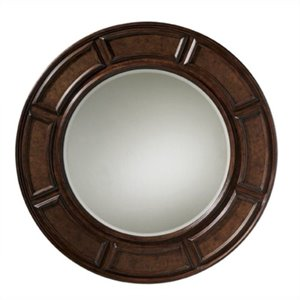 Tommy Bahama Home Kilimanjaro Helena Round Mirror in Distressed Tangiers