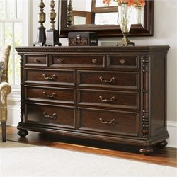 Tommy Bahama Home Kilimanjaro Pennington 9 Drawer Dresser in Distressed Tangiers