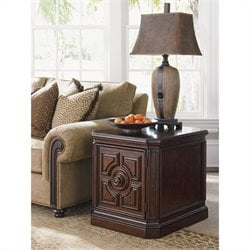 Tommy Bahama Home Kilimanjaro Crawford Lamp Table in Tangiers