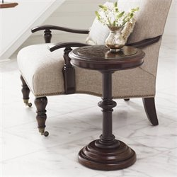 Tommy Bahama Home Kilimanjaro Queenstown Round Accent Table in Tangiers