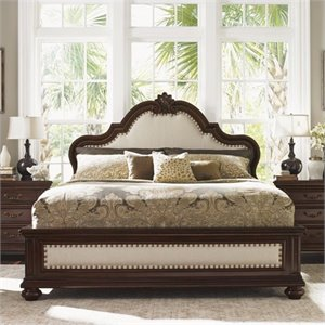 Tommy Bahama Home Kilimanjaro Barcelona Panel Bed in Distressed Tangiers