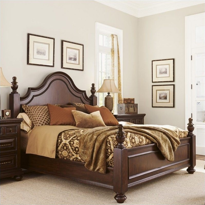 Tommy Bahama Home Kilimanjaro Candaleria Poster Bed In