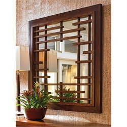 Tommy Bahama Island Fusion Mikasa Square Wall Mirror in Brown