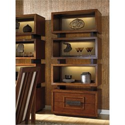 Tommy Bahama Island Fusion Tonga Tiered Bookcase in Brown