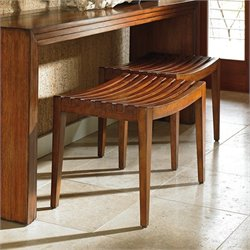 Tommy Bahama Island Fusion Midori Wood Bench in Dark HIckory