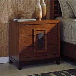 Tommy Bahama Island Fusion Isabela Wood Nightstand in Dark Hickory