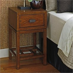 Tommy Bahama Island Fusion Hana Wood Night Table in Dark Hickory