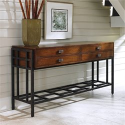 Tommy Bahama Island Fusion Siapan Wood Sideboard in Dark Hickory