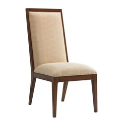 Island Fusion Natori Slat Back Fabric Side Chair