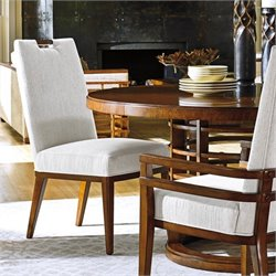 Tommy Bahama Island Fusion Coles Bay Fabric Side Chair in White