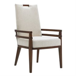Tommy Bahama Island Fusion Coles Bay Fabric Arm Chair in White