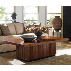 Tommy Bahama Island Fusion Castaway Wood Coffee Table in Walnut