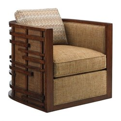 Tommy Bahama Island Fusion Semerang Fabric Chair in Beige